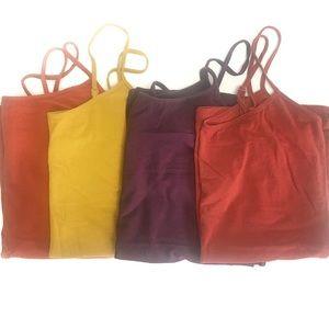 Bundle of fall color tank tops
